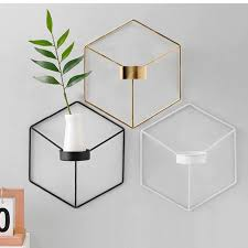 Minimalist Geometric <b>Nordic Style Iron</b> Candle Holders For Small ...
