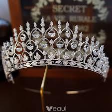 Luxury / <b>Gorgeous Silver Rhinestone</b> Tiara 2019 Metal <b>Bridal</b> Hair ...