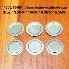 <b>100pcs</b>/<b>lot 14500 Lithium ion</b> battery sheet Spot welded cap Nickel ...