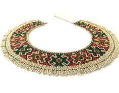 <b>Seed bead</b> Ukrainian traditional <b>necklace</b>, Ethnic <b>necklace</b> | кризи ...