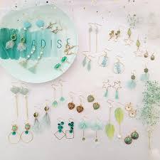 <b>Fashion</b> Summer <b>Earrings</b> for Women Geometric <b>Round</b> Heart ...