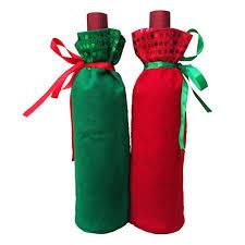 YONEER Red <b>Wine</b> Bottle Cover Bag <b>Sequin Snowman Santa</b> ...
