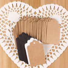 <b>100Pcs Fashion</b> Kraft Paper Wedding Hang Tag Gift Tags <b>Lace</b> ...
