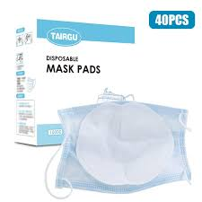 40Pcs <b>Disposable Face Masks</b> Filter Pad 3 Layers Breathable Filter ...