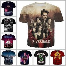 New Fashion Women/Men <b>TV Riverdale 3D Print</b> Casual T-Shirt G441