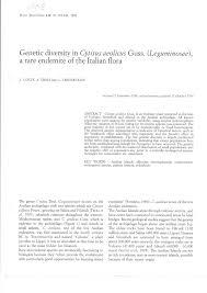 (PDF) Genetic diversity in Cytisus aeolicus Guss. (Leguminosae), a ...