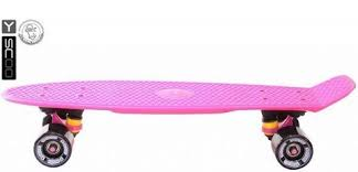 Детский <b>скейтборд</b> Y-Scoo <b>RT 401</b>-<b>P Fishskateboard</b> 22 PINK black