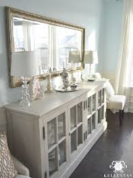how to decorate a sideboard in a dining room