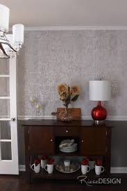 Chair Rail For Dining Room Metallic Wallpaper Serving Table And Cappuccinos On Pinterest