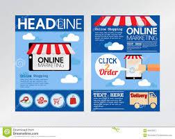 marketing brochure templates set 1 e commerce online marketing magazine cover flyer brochure