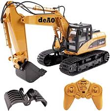 deAO Toys <b>15 Channel Remote Control</b> Fork and Bucket Excavator ...