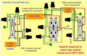 wiring diagrams for household light switches do it yourself help com updated diagram two switches one receptacle