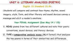 comparison contrast essay mla format