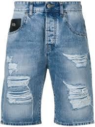 <b>John Richmond</b> - <b>джинсовые</b> шорты с эффектом потертости - для ...