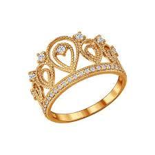 <b>Позолоченное кольцо</b> «Корона» <b>SOKOLOV</b> – купить в ...