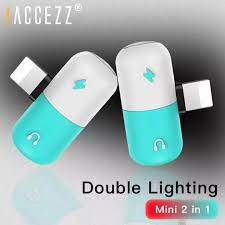 !ACCEZZ <b>2PCS For iPhone</b> Lighting <b>Adapter</b> For <b>iPhone</b> X 8 7 6 5 ...