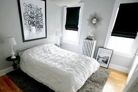 sober bedroom bedroom ideas black white