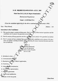 lawdetails pot in contract i semister sv university contracts i sem i 3year llb svu 2002 page 1