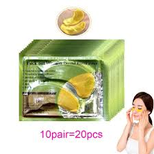 20Pcs=10Pairs <b>Gold Crystal Collagen</b> Eye Mask Eye Patches For ...