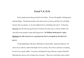 macbeth  good vs evil   gcse english   marked by teachers comdocument image preview