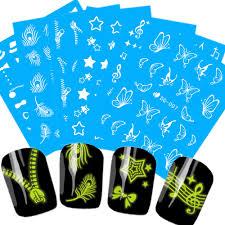 1 лист летний дизайн <b>ногтей</b> Noctilucence <b>Bling</b>-<b>Bling наклейки</b> ...