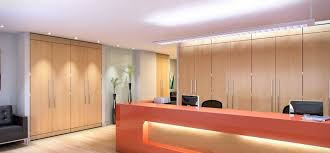 commercial illuminated front desk design made from chic wooden material office interior designs of front line chic front desk office interior design ideas