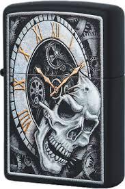 29854 <b>Зажигалка Zippo Skull Clock</b> Design, Black Matte
