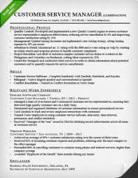customer service manager combination resume sample combination style resume sample