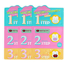 HOLIKA <b>HOLIKA Golden Monkey Glamour</b> Lip ( 3step Kit 3pcs ) Lip ...
