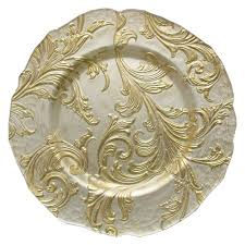 charger plates decorative: the jay companies  inch round vanessa gold glass charger plate