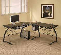 minimalist black drafting desk with mini cabinetry a computer table in black tone amazing build office