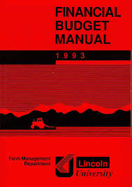 Financial budget manual 1993
