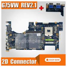 <b>send board</b>+G75VW Motherboard REV: 2.1 <b>2D</b> Connector For ASUS ...