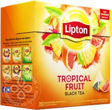 Купить <b>Чай черный Lipton Tropical</b> Fruit 20 пак с доставкой на дом ...