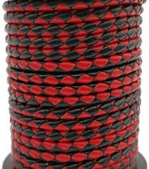Amazon.com: 5 Yards 4mm Braided Leather Cord Round Leather ...