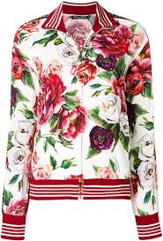 <b>Dolce</b> & <b>Gabbana peony</b> print zip-up sweatshirt | Спортивная мода ...