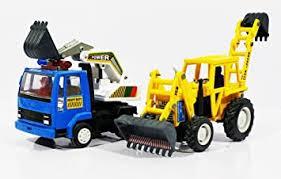 Buy Jack Royal <b>Plastic Excavator</b> Construction Kit -Type 10 (Blue ...