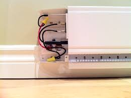 replacing standard electric baseboard heater linear convector image