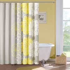 bathroom shower curtains bright designlab amazoncom madison park lola cotton shower curtain gray yellow home amp