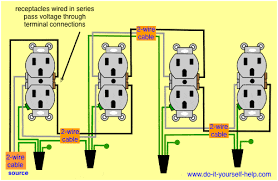 wiring diagrams multiple receptacle outlets   do it yourself help comwiring diagram receptacles in series