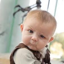 Skeptical Baby meme generator via Relatably.com