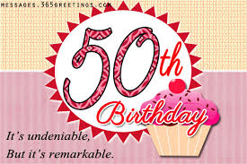 50th Birthday Wishes Messages, Greetings and Wishes - Messages ... via Relatably.com