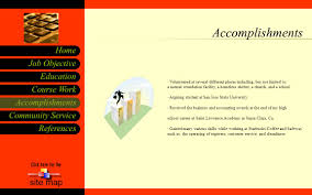 accomplishments community service references job objective home 5 accomplishments community