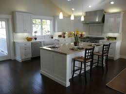 Small Picture White Kitchen With Dark Wood Floors Home Design Lover Awesome