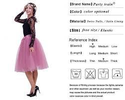 <b>5 Layers</b> Midi Tulle Skirts Womens Fashion <b>TUTU</b> Skirt Elegant ...