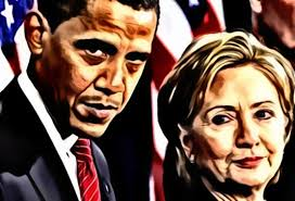 Image result for hillary and obama destruction pics