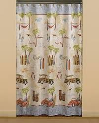 <b>Gone Surfing</b> Fabric Shower Curtain | Products in 2019 | Fabric ...