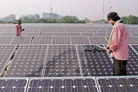 Image result for indian former with solar plant