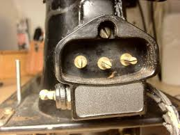 "the vintage singer sewing machine blog how to re wire a potted once we finally replace our old motor leads new wiring we ll need to connect the ends of that new wiring to the ""3 pin terminal body "" which is this"