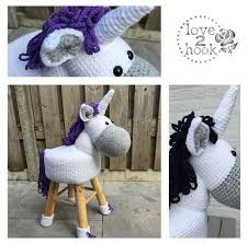 Animal Stool <b>Unicorn</b> crocheted | Crochet cow, Crochet, Crochet ...